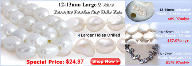12-13mm big baroque pearls