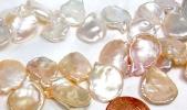 17-19mm keshi pearl strands