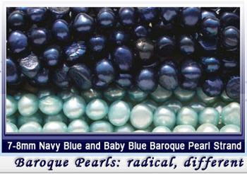 baroque pearl strands