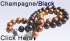 champagne and black pearl bracelet