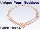 pearl necklace bib in silver