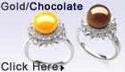 chocolate and gold pearl ring