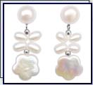 customized coin pearl earrings