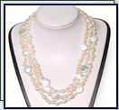 3-row coin pearl necklace