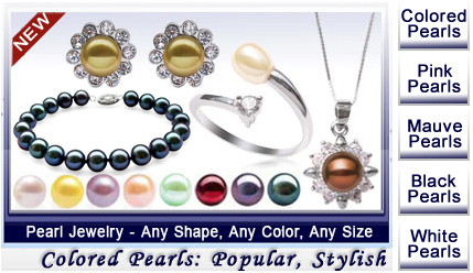 colored pearl jewelry
