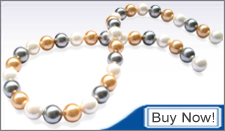 multi-colored southsea shell pearl strands