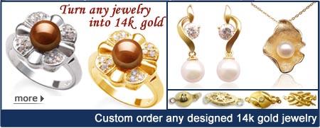 gold pearl jewelry