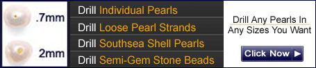 drill pearls in any sizes