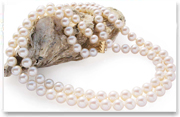 2-row round pearl necklace