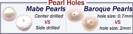 drilled pearls in larger hole sizes