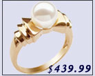 pearl ring, 18k gold