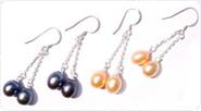 drop pearl earrings, 925 silver
