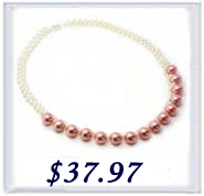 tiny pearls and large southsea shell pearl necklace