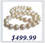 9-10mm AAA round pearl necklace in 14k gold