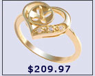 ring setting, 14k gold