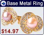 base metal pearl rings