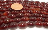 8mm Round Red Agate on Temporary Strands