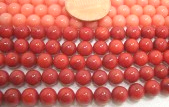 Natural Coral Beads from 2.5mm, 4mm, 6mm, 8mm to 10mm, from round, tube, drum to rice shapes on Temporary Strands