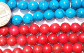 Turquoise Round Beads from 6mm, 8mm, 10mm to 12mm Round Beads on Temporary Strands