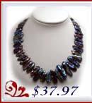 black biwa necklace