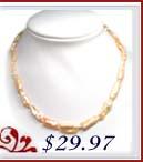 white biwa necklace