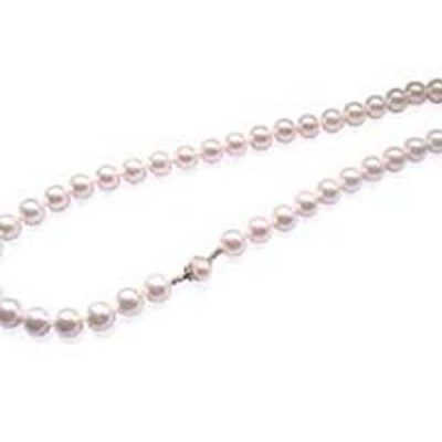 White 10mm, 12mm Southsea Shell Pearl Necklace, 22in, Two Styled Clasps