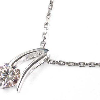 925 SS, Translucent CZ Diamond Pendant
