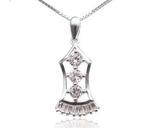 925 SS Decorative Pendant with CZ Diamonds
