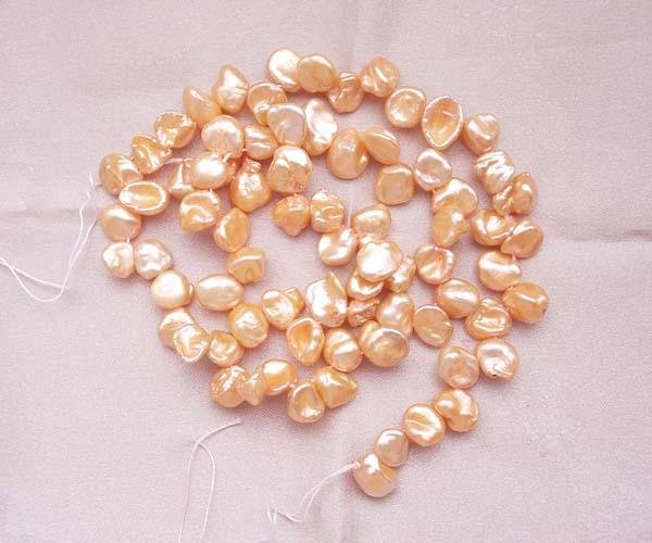 Mauve 8-11mm Cornflake or Keshi Pearls on Temporary Strand