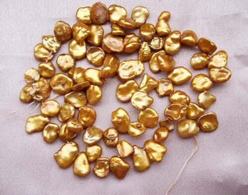 Medium Brown Keshi Pearls on Temporary String