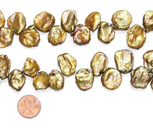 Large 16-17mm Brown Keshi Pearl Strand