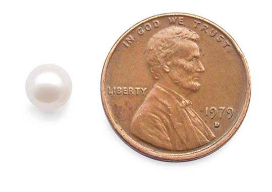 White 5.5-6mm Loose AA+ Round Pearl, Undrilled or Half-Drilled