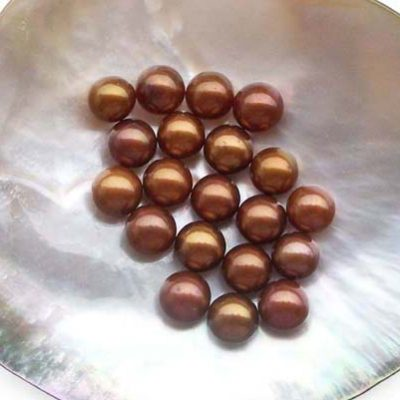 6.5-7mm AAA Loose Chocolate Round Pearl