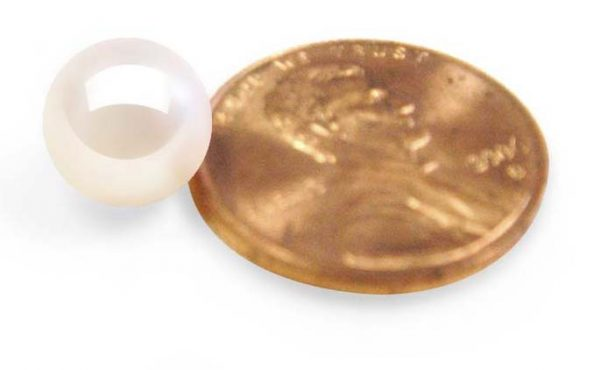 White 8-8.5mm Loose AAA Round Pearl, Undrilled or Half Drilled