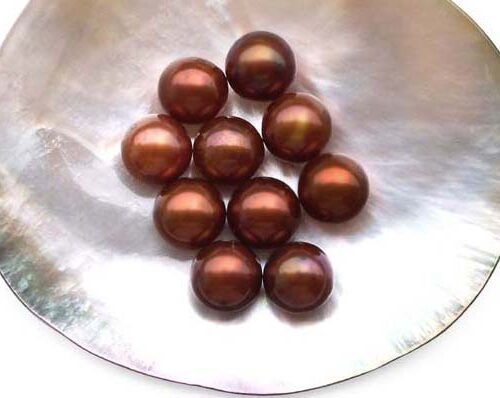 Chocolate 9.5-10mm AA+ Loose Round Pearl