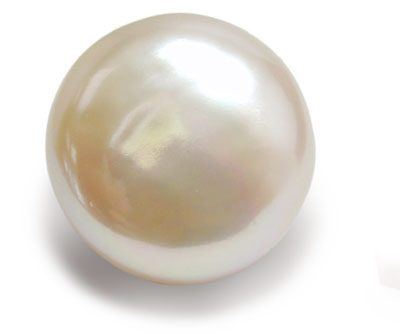 Keepsake 11-11.5mm White Loose Round AAA Pearl Rose Overtone