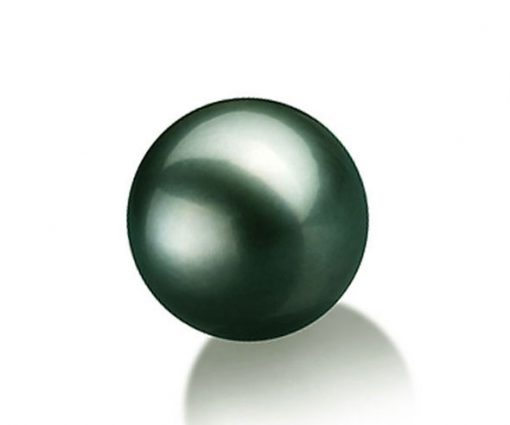 10.5-11mm Round High Quality Tahitian Green Loose Pearl Half Drilled