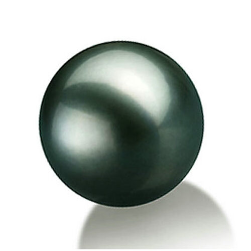 10.5-11mm Round High Quality Tahitian Black Loose Pearl Half Drilled