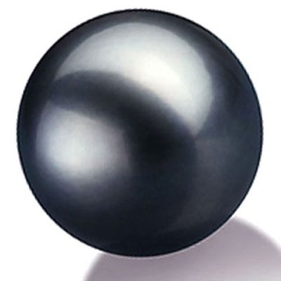 Large Tahitian Black Single Pearl, Un-drilled or Half-Drilled