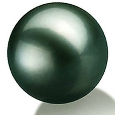 13.5mm Large Round Tahitian Black Pearl High Quality Half Drilled
