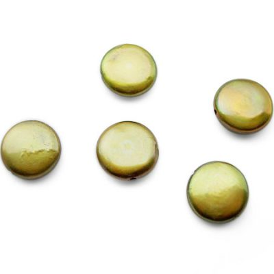 Gold 13-14mm Loose Individual AAA Coin Pearl