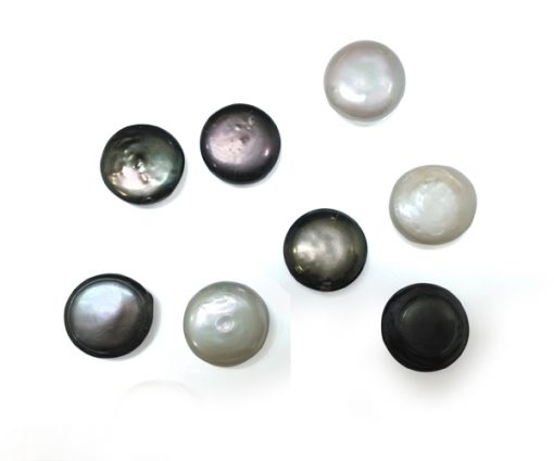 Black and White 19.5-20mm Loose Undrilled Coin Pearls