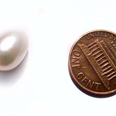 White 9.5-11mm Loose AAA Drop Pearl, Undrilled or Half-Drilled