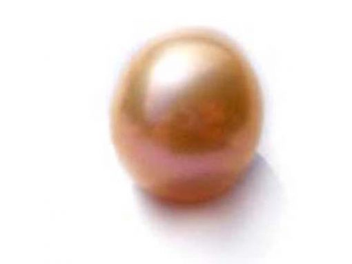 Pink 9.5-11mm Loose AA+ Drop Pearl, Undrilled or Half-Drilled