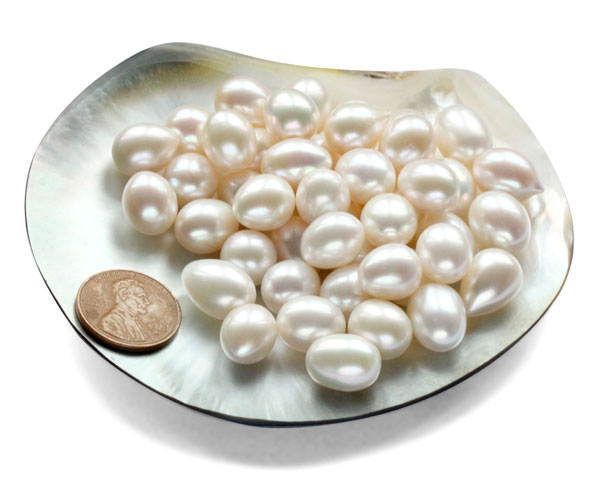 10-11mm White Drop Pearl