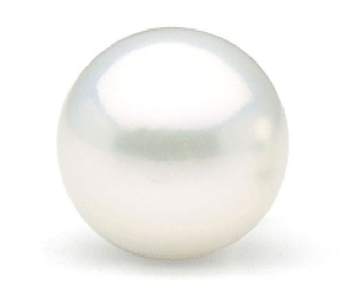 White 13-14mm Loose Round Pearl Half-Drilled