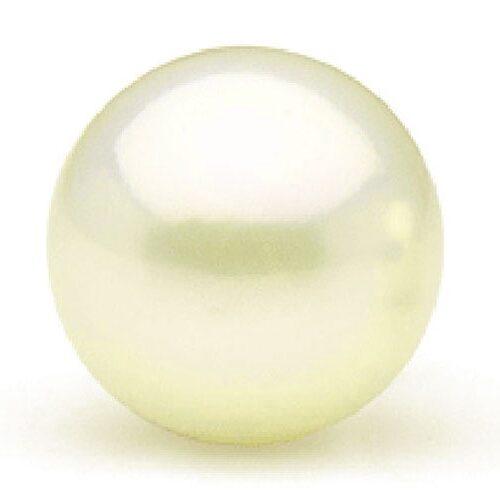 Cream White 13-14mm Loose Round Pearl Half-Drilled
