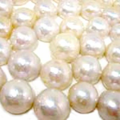 White 13mm Loose AA+ Mabe Pearls, Undrilled, Half-Drilled or Fully Drilled