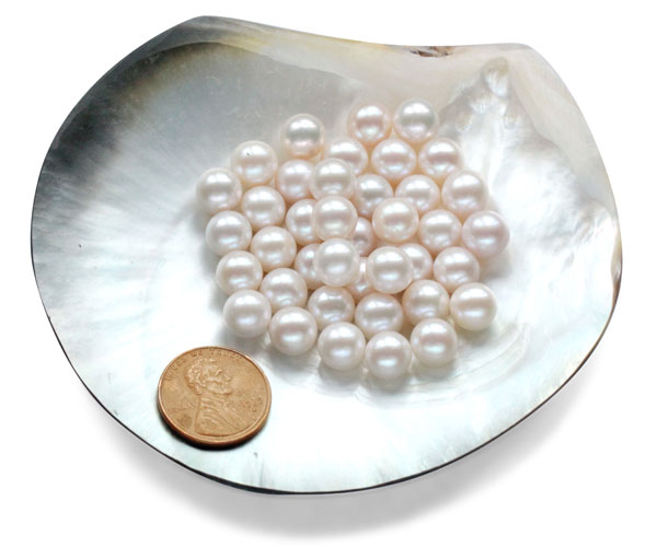 8-9mm AA+ Loose Round Pearls