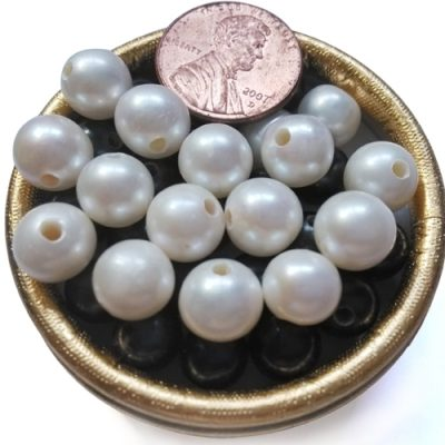 White 9-10mm AA Round Pearls